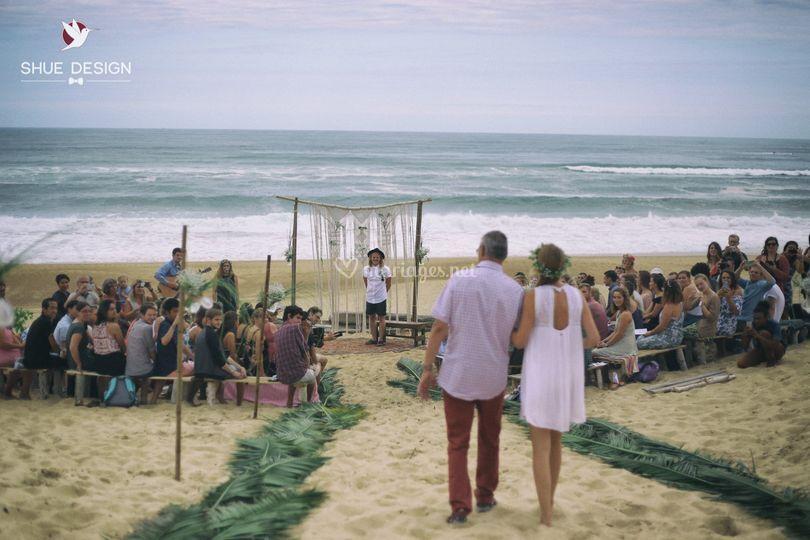 Mariage à la plage, Hossegor