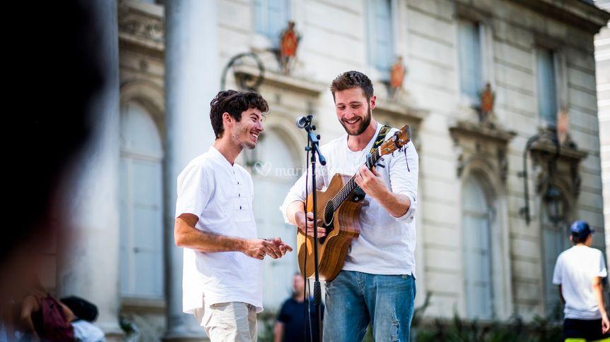 Le duo en acoustique à Avignon