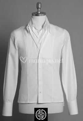 Chemise blanche double col
