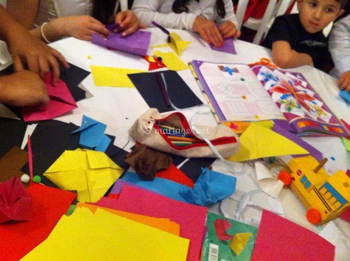 Ateliers créatifs origamis