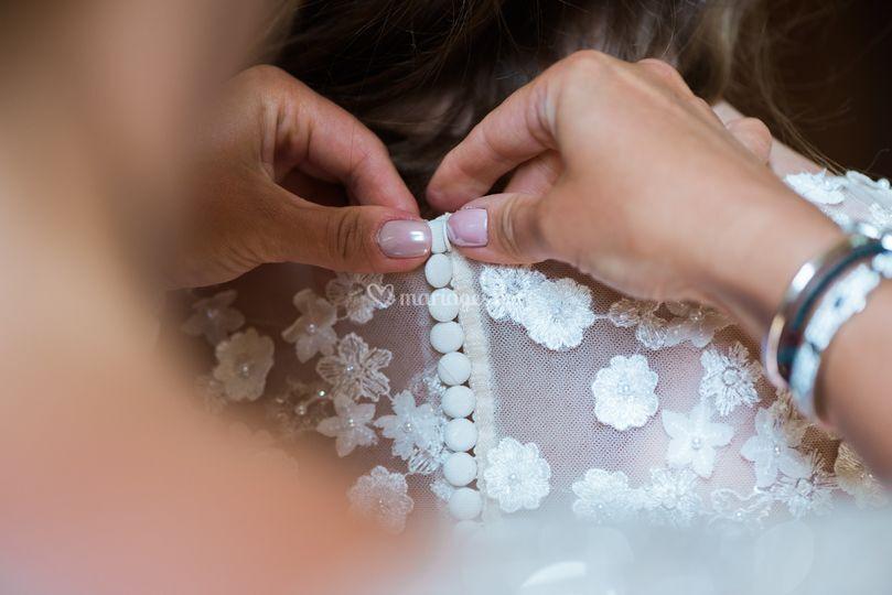 La mariée prépare