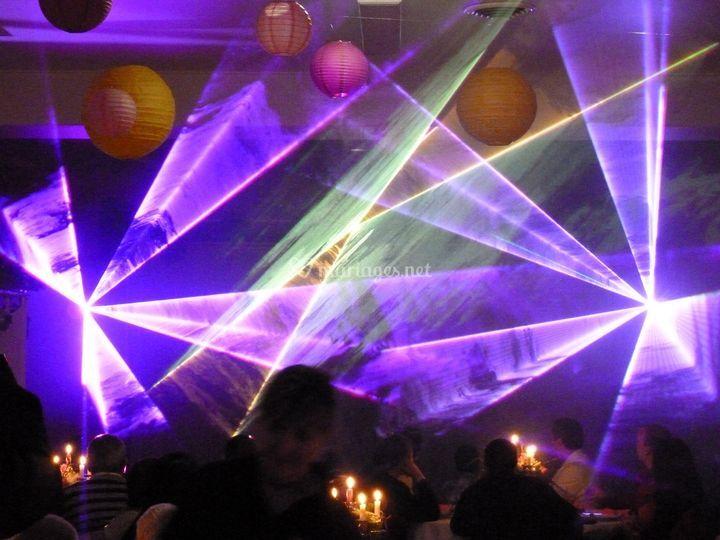 Show laser RGB pour mariage