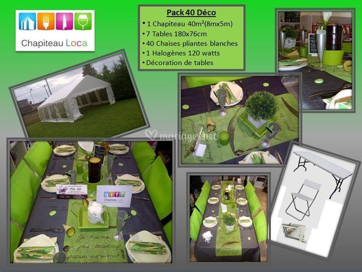 les packs d co de table de chapiteau loca photo 15. Black Bedroom Furniture Sets. Home Design Ideas