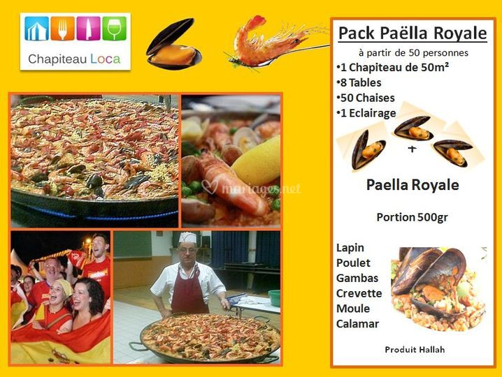 Pack Paella royale