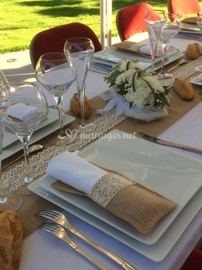 Table de mariage domicile