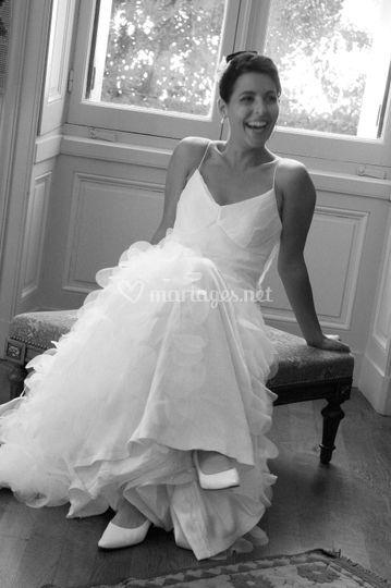 Mariée souriante