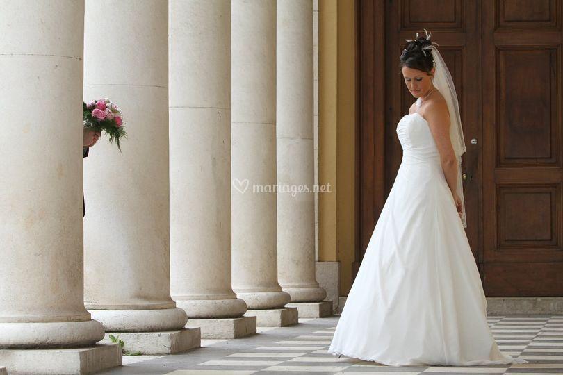 Colonnes bouquet et mariée