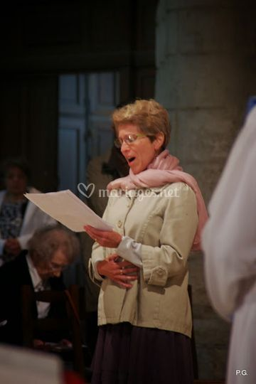 Chant lors de cérémonie