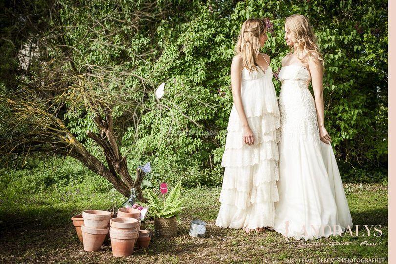 Robe de mariée Bohème hippie