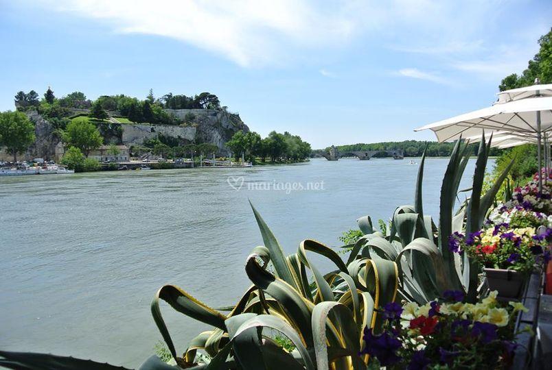 Bercail terrasse Rhône