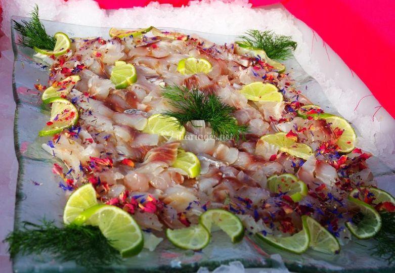 Cocktail filet bar mariné