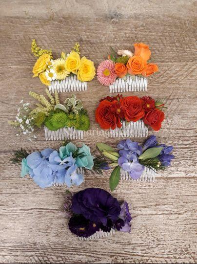 Peignes de fleurs