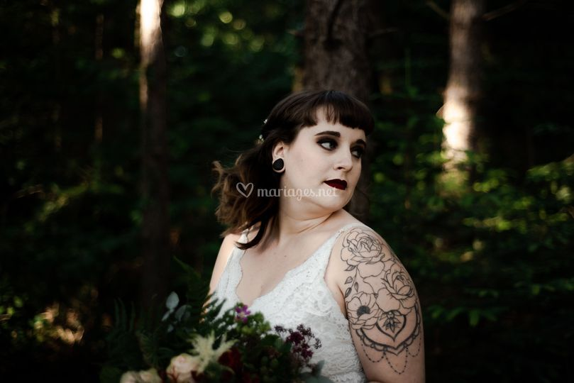 Shooting mariée rock