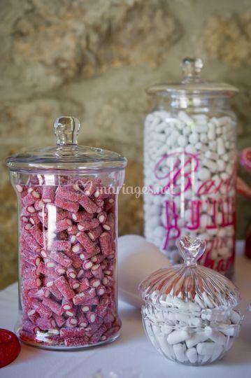 Bonbonnières pour Candy Bar