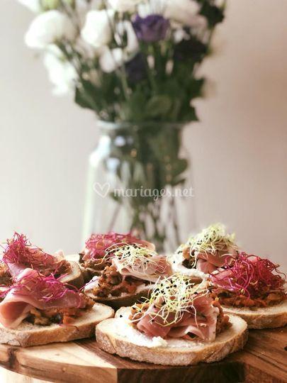 Tartines fraîches et colorées