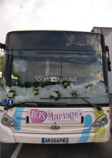Avant bus mariage