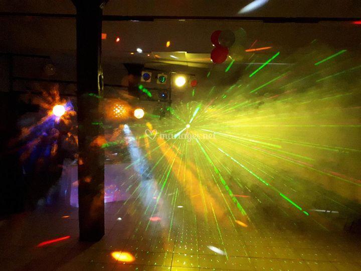 Éclairage piste de danse