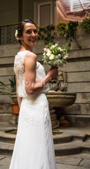 Portrait de la marié le jour J