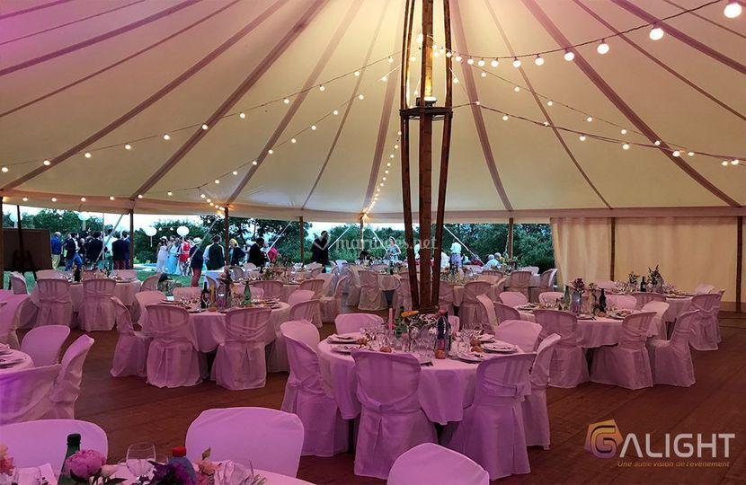 Guirlande LED tente bambou