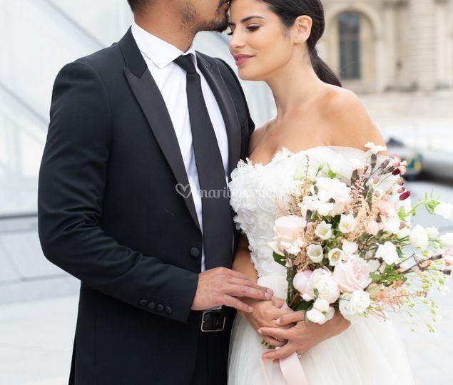 Bouquet mariée romantique