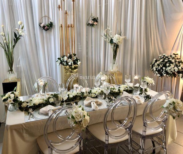 Table décoration blanche