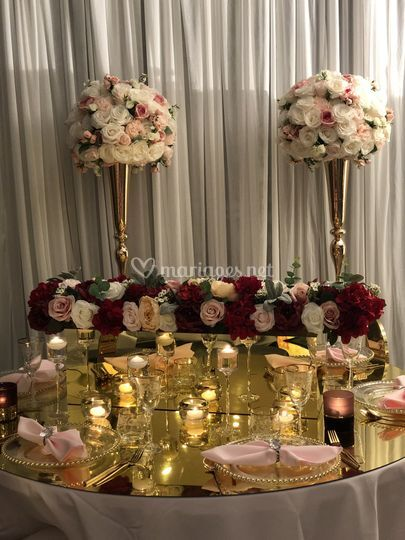 Table décoration dorée