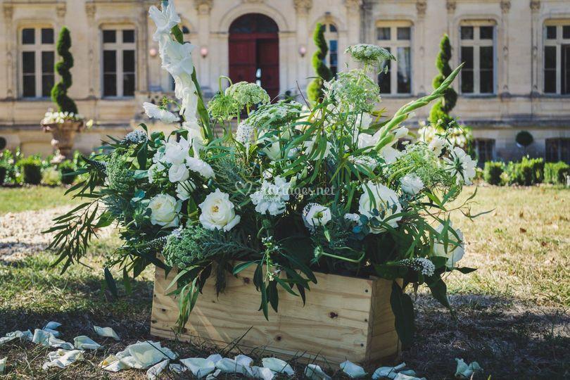Caisse fleurie