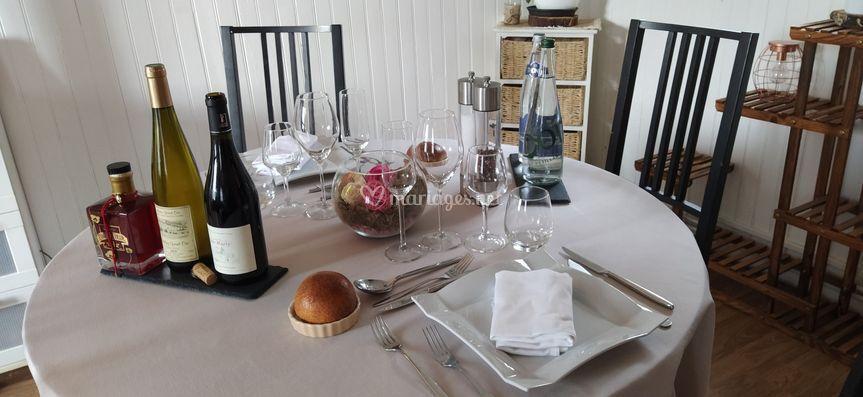 Table de chef à domicile