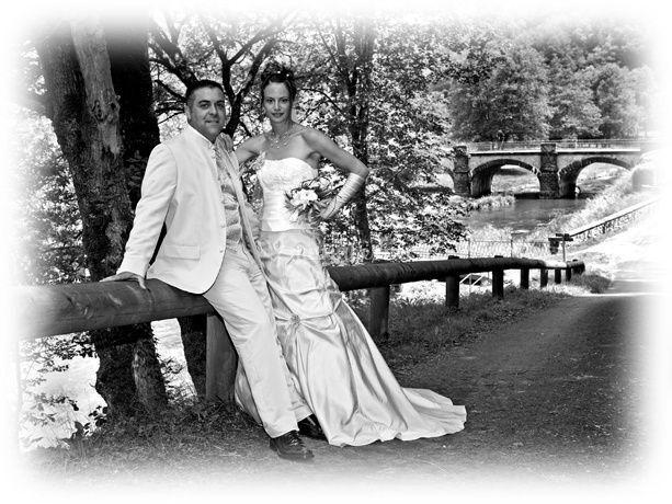 Mariage en noir et blanc