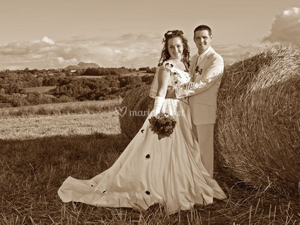 Mariage en sepia