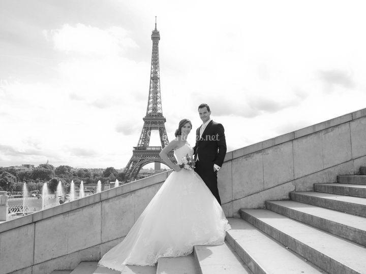 Parc mariés Trocadéro