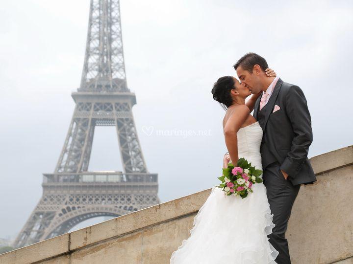 Parc mariés Paris Trocadéro