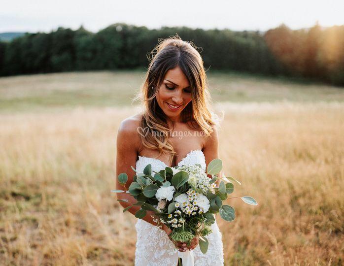 Avec le bouquet