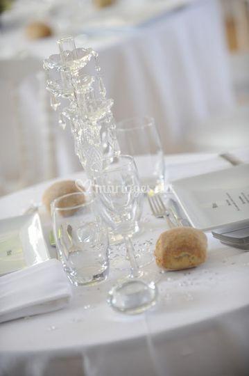 Mise en place table mariage