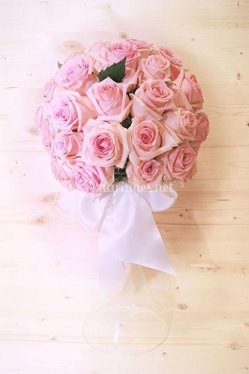 Boule de roses décoration sall