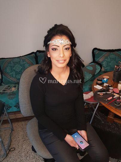 Maquillage oriental mariée