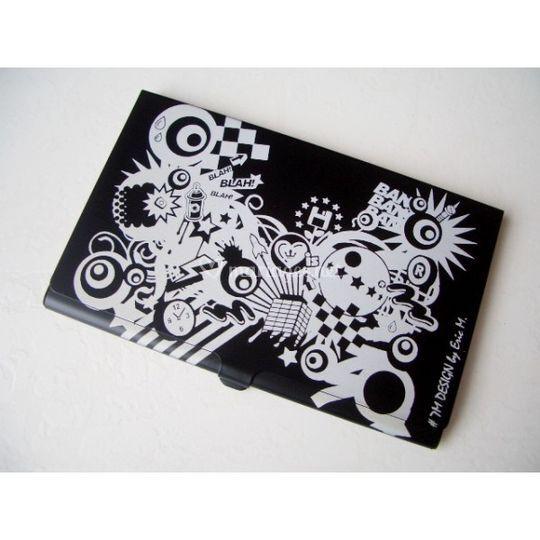 Porte cartes de visite gravé