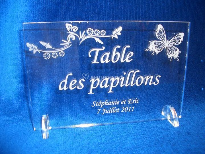 Marque table Papillons