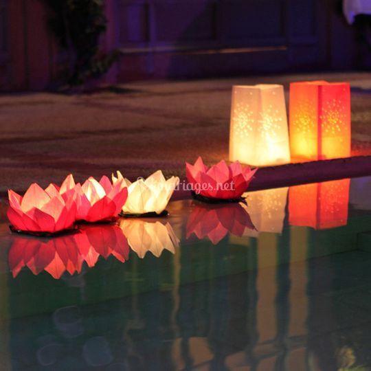Lanternes de jardin et lanternes flottantes