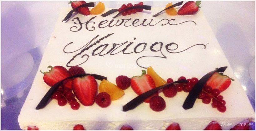 Wedding cake généreux