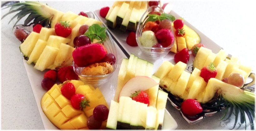 Plats de fruits