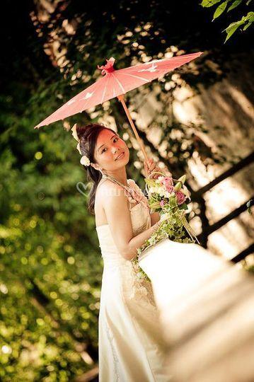 Seven photographie la mariée