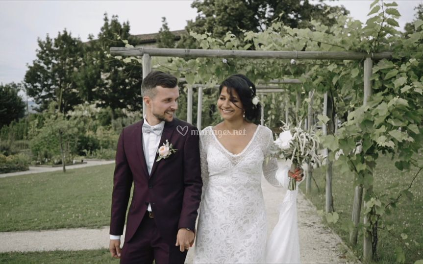 Arrivé des mariés