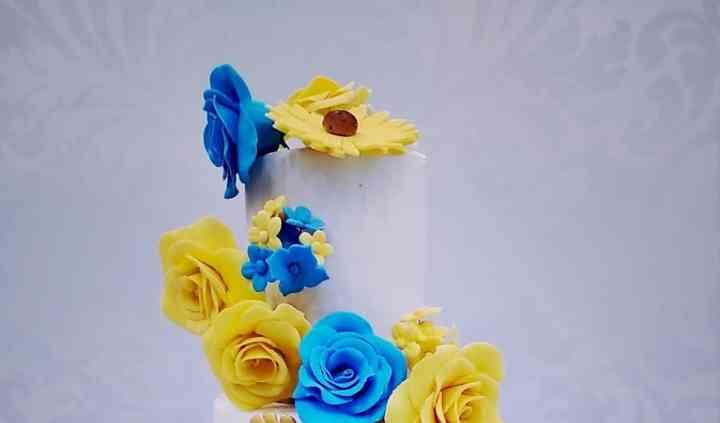 En jaune et bleu