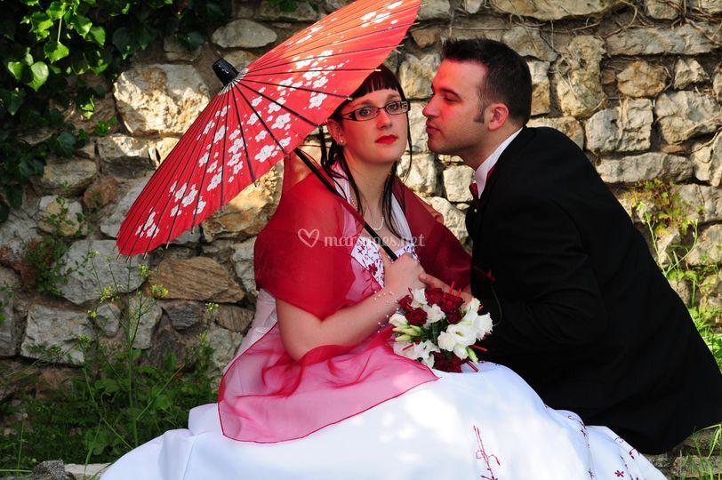 Mariage Mougin ombrelle