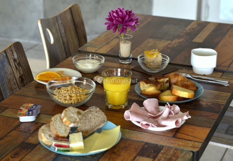 Petit déjeuner personnalisable