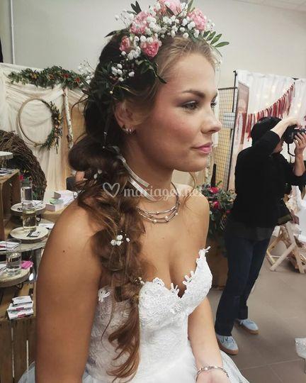 Coiffure de la mariée bohème