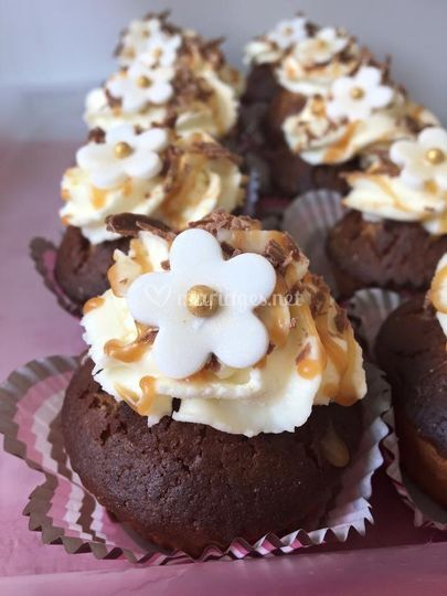 Cupcake chocolat caramel