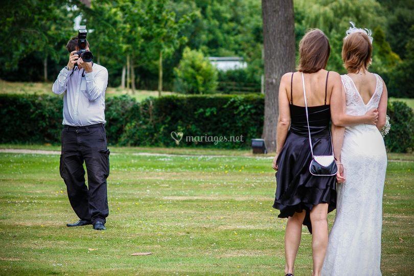 Notre photographe en action.
