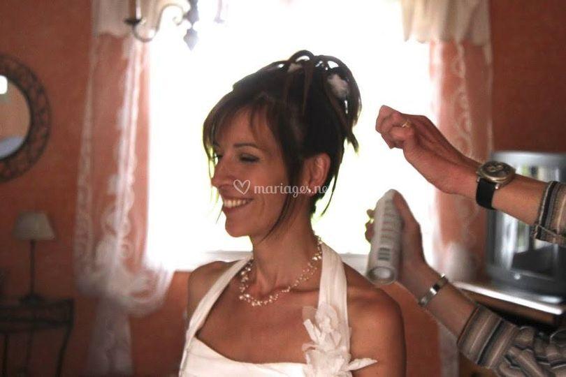 Chignon Mariée et Maquillage